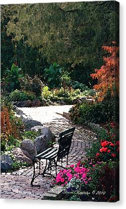 Canvas Print featuring the photograph Walk In The Park by Steven Clipperton