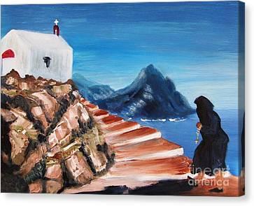 Walk Of Faith Canvas Print by Therese Alcorn