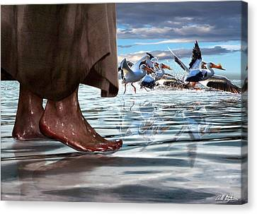 Walk On Water Canvas Print by Bill Stephens