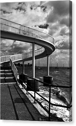 Canvas Print featuring the photograph Walk Over Water by Trevor Chriss