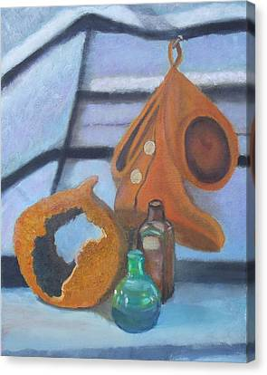 Canvas Print featuring the painting Walk Softly by Margaret Harmon
