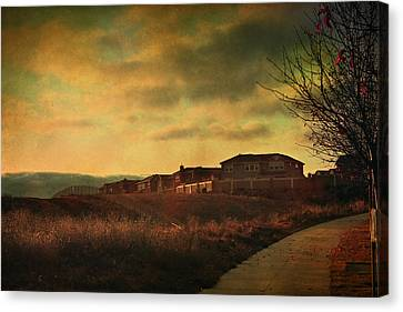 Sky Scape Canvas Print - Walking Alone by Laurie Search