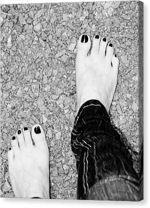 Canvas Print featuring the photograph Walking Barefoot by Ester  Rogers