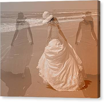 Walking In A Dream Canvas Print by Betsy Knapp
