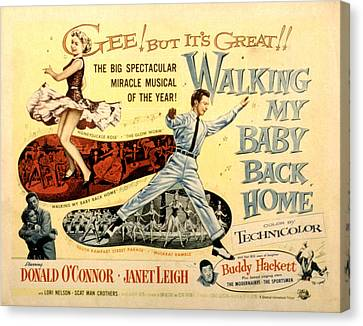 Walking My Baby Back Home, Janet Leigh Canvas Print