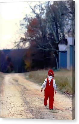 Walking On Pawpaw's Road Canvas Print