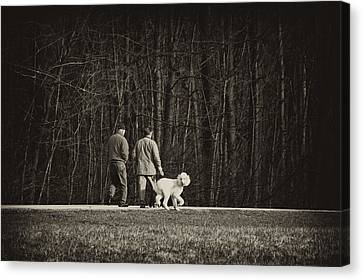 Walking The Dog Canvas Print by Off The Beaten Path Photography - Andrew Alexander