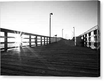 Walking The Planks Sunrise Canvas Print by Betsy Knapp
