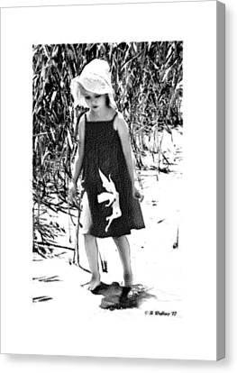 Walking The Shoreline Canvas Print