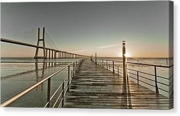 Walkway And Bridge Canvas Print by Landscape photography