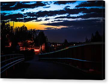 Canvas Print featuring the photograph Walkway by Matti Ollikainen