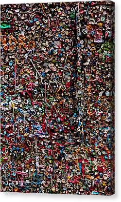 Wall Of Gum Canvas Print by Garry Gay