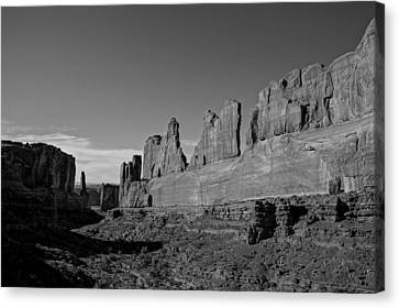 Wall Street Arches National Park Utah Canvas Print by Scott McGuire