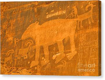 Wall Street Cliffs Petroglyph - Moab Canvas Print