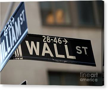 Canvas Print featuring the photograph Wall Street by Leslie Leda