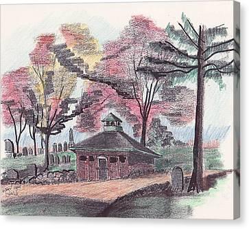 Walnut Grove Crypt Canvas Print