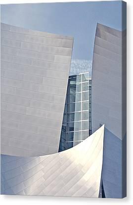La Philharmonic Canvas Print - Walt Disney Music Hall Detail by Loud Waterfall Photography Chelsea Sullens
