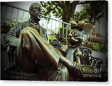Walt Disney World - Magic Kingdom Canvas Print by AK Photography
