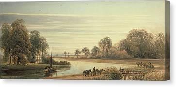 Walton On Thames Canvas Print by Peter de Wint