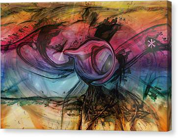 Wandering Star Canvas Print - Wandering Star by Linda Sannuti