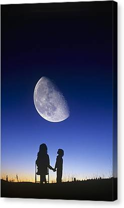 Waning Gibbous Moon Canvas Print by David Nunuk