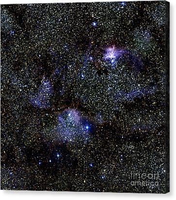 War And Peace Nebula, Infrared Image Canvas Print by 2MASS project  NASA