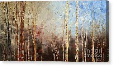 Canvas Print featuring the painting War And Peace by Tatiana Iliina