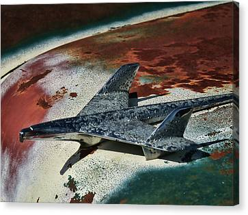 Rusted Cars Canvas Print - War Bird by Douglas Pittman