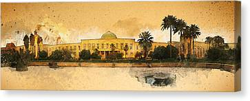 War In Iraq Sadaam's Palace Canvas Print by Jeff Steed