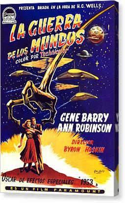 1950s Poster Art Canvas Print - War Of The Worlds, Bottom, Left by Everett
