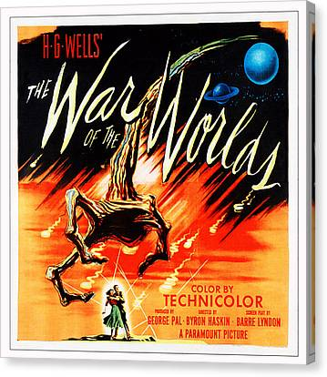 War Of The Worlds, Poster Art, 1953 Canvas Print by Everett