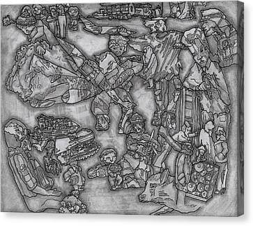 Terrorist Canvas Print - War On Terror by Bobby Fontaine