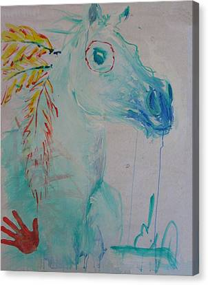 War Poney Canvas Print
