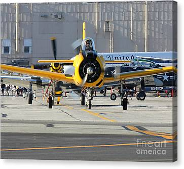Canvas Print featuring the photograph Warbird Alley by Alex Esguerra
