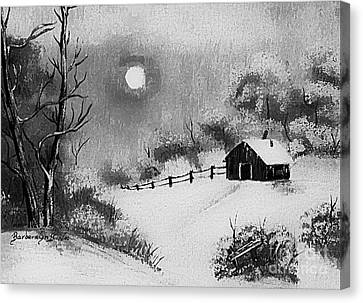 Warm Day  B And W Canvas Print by Barbara Griffin