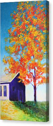 Warm Day In Fall Canvas Print by Karin Eisermann