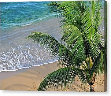 Canvas Print featuring the photograph Warm Maui Waters Lapping Ashore by Kirsten Giving