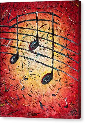 Warm Notes Canvas Print by Paul Bartoszek