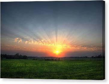 Warm Summer Sunset Canvas Print