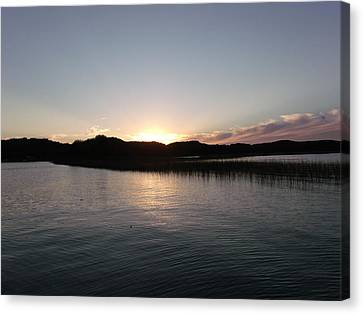 Warm Sunshine Lake Canvas Print by Brian  Maloney