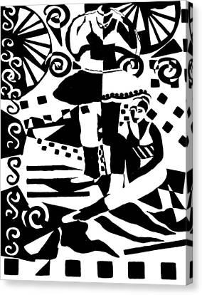 Warming Up - Dance I Canvas Print by Forartsake Studio