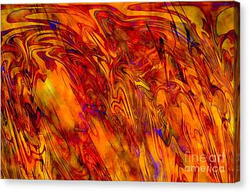 Warm Canvas Print - Warmth And Charm - Abstract Art by Carol Groenen