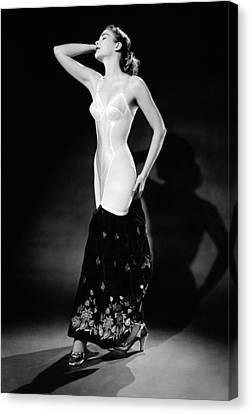 Warner Corset Provided Full Body Canvas Print by Everett