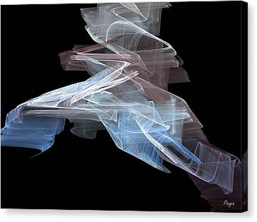 Canvas Print featuring the digital art Warp Speed by John Pangia