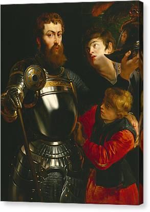 Half-length Canvas Print - Warrior  by Peter Paul Rubens