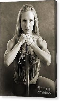 Warrior Woman Canvas Print by Cindy Singleton