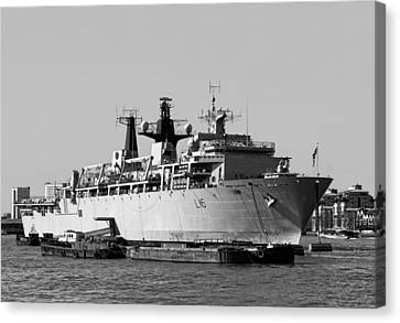 Warship Hms Bulwark Canvas Print by Jasna Buncic