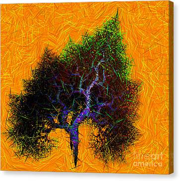 Was A Crooked Tree  Grunge Art Canvas Print