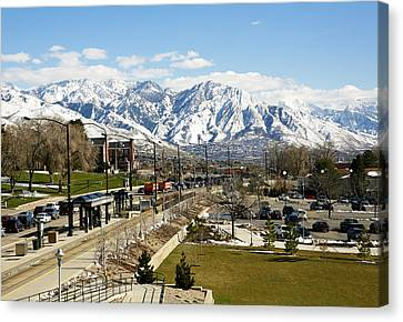 Wasatch Mountain Range Canvas Print by Marilyn Hunt