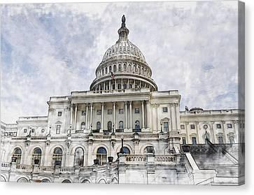 Senate Canvas Print - Washington Dc Capitol Hill by Brandon Bourdages